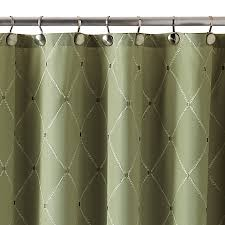 Green And Brown Shower Curtains Wellington Shower Curtain In Green Bed Bath Beyond