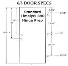 Standard Door Width Exterior Prehung 6 Panel Textured Fiberglass Door With 2 Sidelights