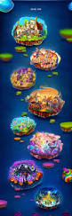 Forgotten Shore Map Candy Cruise Match Three Game On Behance