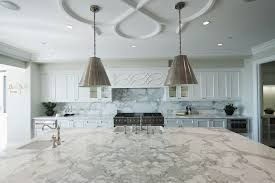 White Marble Kitchen by Countertops White Marble Countertop Chrome Hanging Pendant Lights