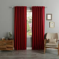 Arabic Curtains Solid Insulated Thermal Blackout Curtain Panel Pair Free