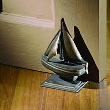 sailboat nautical doorstop cast iron whyrll com