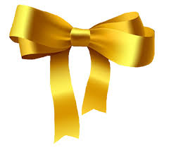 gold ribbons gold bow clip at clker vector clip online royalty