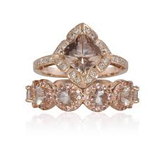 deco engagement ring deco engagement ring deco morganite wedding ring set