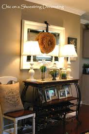 console table decor ideas burlap pillow tertiary antique looking with a modern touch love