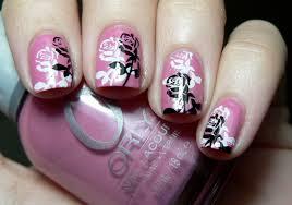nail art beautiful nail art pink flower design pari sangha ketobh