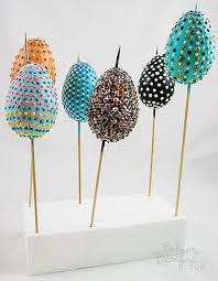 styrofoam easter eggs balzer designs easy dotted easter eggs