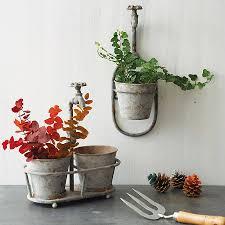 iron spout garden hanging pot planters gardens and garden planters