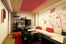 best living room interior design ideas with flashy red color