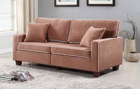 Livingroom Sofa Modern Two Tone Velvet Fabric Living Room Love Seat Sofa Walmart Com