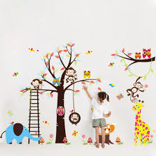 Nursery Monkey Wall Decals Compare Prices On Nursery Tree Mural Online Shopping Buy Low