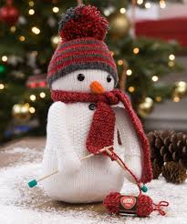 knitting snowman free knitting pattern in red heart yarns new