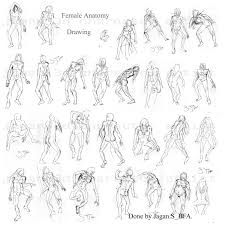 jagan 3d character artist human anatomy drawings medium pen