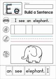 phonics letter of the week b build a sentence cut and paste