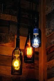 Lamps Made From Bottles Wine Bottle Pendant Light Lighting Recycled Glass Lights For Sale