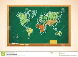 Geography Map Background With Geography Map Drawing Royalty Free Stock