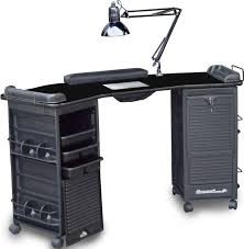 Lockable Desk Meri M602 Mambo Double Cabinet Lockable Nail Table