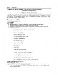 Sle Makeup Artist Resume gallery of beginner writer resume makeup artist cover letter