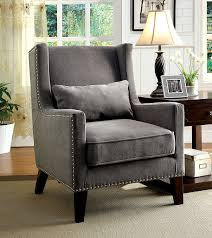 Upholstered Wingback Chair Amazon Com Furniture Of America Aiza Contemporary Upholstered