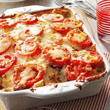 thanksgiving lasagna recipe tomato french bread lasagna recipe taste of home