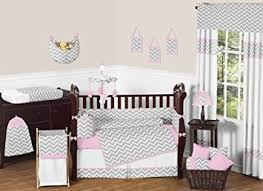 Pink Chevron Crib Bedding Sweet Jojo Designs 9 Pink And Gray Chevron Zig