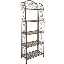 Container Store Bakers Rack Antique Bronze 5 Tier Metal Baker U0027s Rack Hobby Lobby 537886