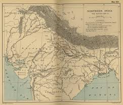 Ancient India Map by Map Of India 1857 1859 The Mutiny