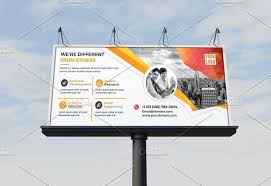 billboard template flyer templates creative market