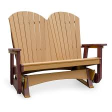 Amish Poly Outdoor Furniture by Amish Poly Wood Seaaira Adirondack Double Glider Finch Collections