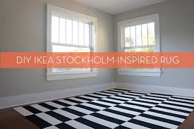 Ikea Area Rugs Make It Diy Ikea Stockholm Inspired Rug Using Carpet Tiles Curbly