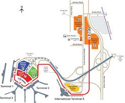 Chicago Airport Map by Full Parking Map Flychicago