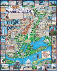 Washington Dc Maps Washington Dc Poster White Mountain Puzzles