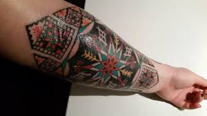 tattoo history vancouver ukrainian pysanka inspired sleeve by lydia k at arcane body arts in