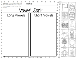 short and long vowels worksheets in pdf vowel u for kindergarten