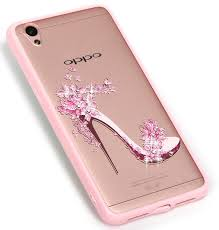 Oppo A37 Silicone Oppo A37 Shiny Rhinestone Bling Lace Dress