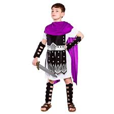 boys kids roman greek emperor gladiator warrior soldier fancy