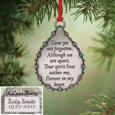 ornaments to personalize personalized photo memorial christmas ornament in loving memory