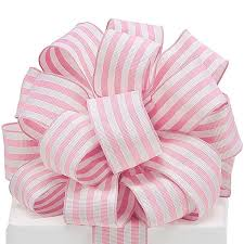 grosgrain ribbon by the yard baby pink and white striped grosgrain ribbon 1 yard