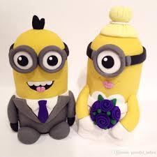 cute minions wedding cake topper brides groom descipable me 2