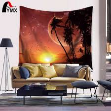 online get cheap ocean tapestry aliexpress com alibaba group home decor tapestry collection sunset tropical beach palm trees peaceful ocean evening view resort picture bedroom