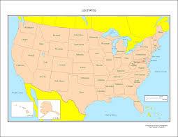 Blank Us Map States by Usa Map States Labeled Map Usa