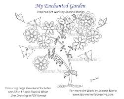 coloring page coloring page flower butterflies coloring