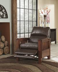 Extra Wide Leather Chair Furniture Ashley Leather Loveseat Recliner Modern Reclining
