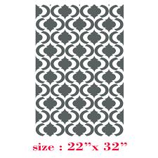 stencils for home decor stencil boss estella allover pattern wall stencil home decor