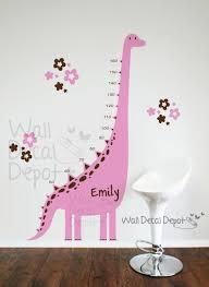 Dinosaur Nursery Decor Dinosaur Wall Decal Growth Charts Babygirl By Walldecaldepot