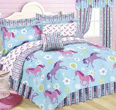 Pony Comforter Kids Horse Bed Theme Horse Decor