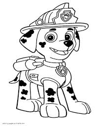 paw patrol coloring pages marshall coloring