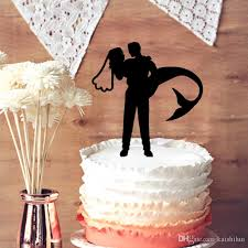 and groom wedding cake toppers 2018 wedding cake topper mermaid and groom silhouette cake