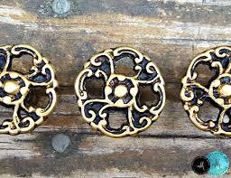 vintage antiqued brass filigree drawer knobs magical beans home