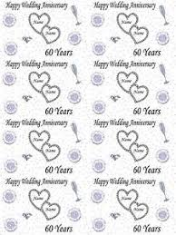 wedding wrapping paper personalised diamond 60th wedding anniversary wrapping paper add